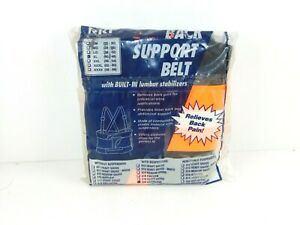 Rri Safety Products Back Support Belt Xl Orange With Built In Lumbar Stabilizers
