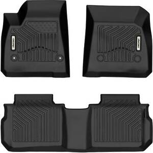 Oedro Floor Mats Liners Tpe Fit For 2017 2021 Cadillac Xt5 All weather Black