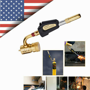 Gas Self Ignition Plumbing Turbo Torch Propane Soldering Brazing Welding Tool Us