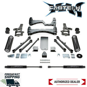 Fabtech 6 Basic System Lift Kit W Rear Stealth Shocks Fits 2013 2018 Ram 1500