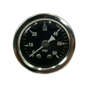 1 3 8 Liquid Filled 60 Psi Oil Pressure Gauge 1 8 Mpt For Harley