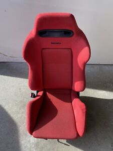 Oem Recaro Sr3 Seat Red Jdm Honda Integra Dc2 Civic Ek9 Type R Whit Rail