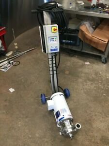 Lc Thomsen 4 Sanitary Pump Usa Leeson 1 5 Motor Lenze Vfd And Usa Made Cart