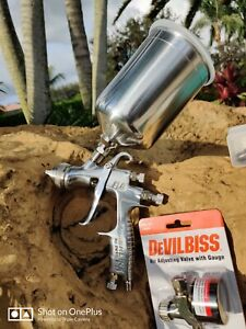 Devilbiss Flg 693 1 3 1 4 1 8 Paint Spray Gravity Hvlp Spray Gun Spraygun