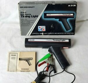 Vintage Sears Powered Timing Light In Original Box 28 2136 Made In Usa