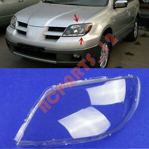 For Mitsubishi Outlander 2003 2006 Left Side Headlight Clean Cover Pc Glue