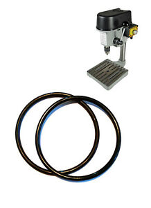 2 Pcs Drive Belt For Mini Bench hobby Drill Press Spare Jewellers Pcb 100080