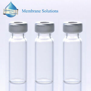 100pcs 2ml Clear Sample vials caps Small Glass Bottle Hplc Gc 11mm Crimp Top