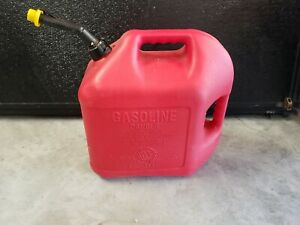 Vintage Blitz 5 Gallon Gas Fuel Can Old Style Self Venting Spout With Cap
