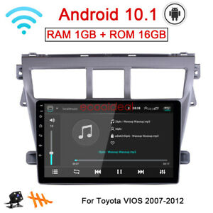 Android 10 1 Radio Gps Navi Wifi Car Dvd Player For Toyota Vios Yaris 2007 2012