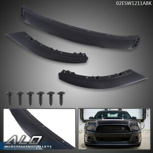 Abs Front Bumper Lip Chin Spoiler Body Kit Black For 2013 2014 Ford Mustang