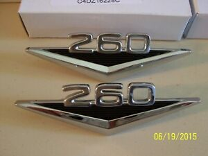 New 1964 Ford Falcon Mustang Fairlane 260 V 8 Front Fender Emblems 1 Pr