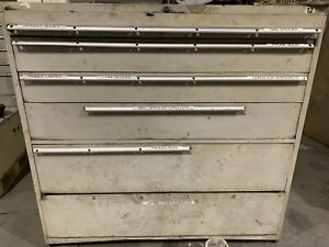 Used Stanley Vidmar Style 6 Drawer Cabinet Tool Parts Storage 54 Tall 56 Wide