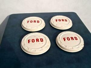Lot Of 4 Original Ford Truck 1960 S Dog Dish Hubcaps 8