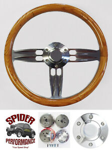 1978 1991 Ford Pickup Ranchero Bronco Steering Wheel 14 Double Barrel Oak