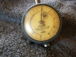 Vintage Federal Machinist Dial Indicator C21 0001 Increments