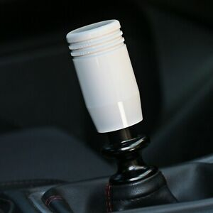 Ssco Ps k Gloss White Knurled Piston 5 6 Speed Shift Knob Weighted Short