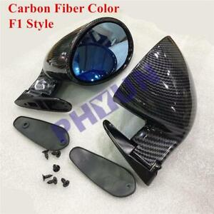 Pair Left Right Carbon Fiber Plane Mirror Side View Car Mirrors For Racing F1