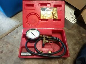 Snap on Tools Usa Mt337a Fuel Injection Pressure Gauge Set With Pb49 Case
