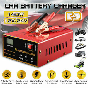Maintenance Free Battery Charger 12v 24v 10a 140w Output For Electric Car Us