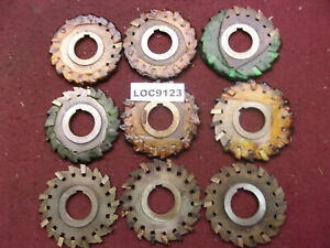 O k Tool Arbor Slitting Saw Blades 4x1 2 Lot Of 9 Loc9123