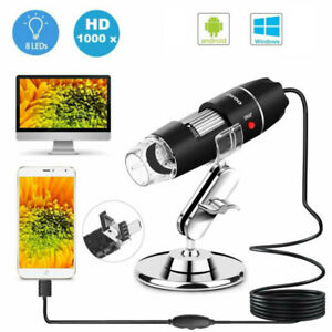 1000x Wire Microscope Camera Magnifier Usb Digital For Phone Android Mac Widows