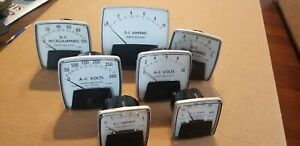 Lot General Electric Panel Meters D c Amperes Millamperes Micriamperes A c Volts