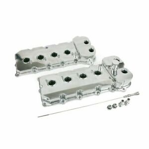 Tsp 84052p Ford 5 0l Coyote Fabricated Aluminum Valve Covers With Dipstick Poli