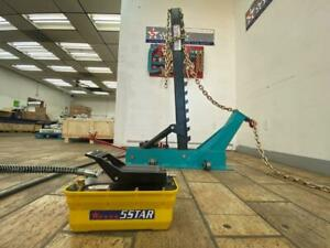 Pulling Post Frame Straightener Frame Machine Free Clamps 3 Ton Air Jack