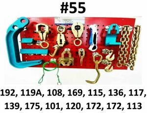 Heavy Duty Auto Body Frame Machine 16 Piece Pulling Tools And Clamps Set