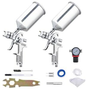 1 3mm 1 8mm Hvlp Air Feed Spray Gun Kit Auto Paint Primer Basecoat Clearcoat