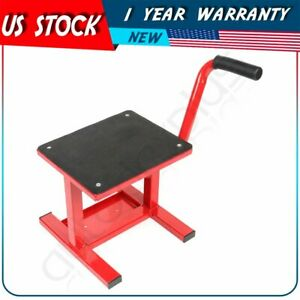 330 Lb Adjustable Motorcycle Racing Motocross Dirt Bike Lift Jack Stand Red