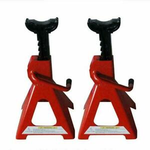 New Adjustable Lift Height Jack 1 Pair Of 2 ton Jack Stands Red High Quality