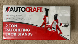 Autocraft 2 Ton Ratcheting Jack Stands New