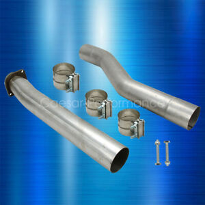 For 03 07 Ford Powerstroke F250 F350 Muffler And Cat Exhaust Pipe Kit 6 0l