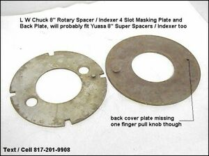 Lw Chuck Yuasa 4 Slot Indexing Plate Cover For Rotary Indexer Super Spacer