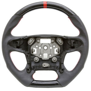 Handkraftd 15 20 Chevy Tahoe Suburban Custom Steering Wheel Hydro Carbon Leather