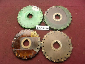 O k Tool Arbor Slitting Saw Blades 6x7 16 Lot Of 4 Loc9146
