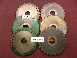 O k Tool Arbor Slitting Saw Blades 6x3 8 Lot Of 6 Loc9148