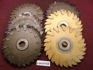 Niagara Arbor Slitting Saw Blades 9x1 2 Lot Of 6 Loc9152