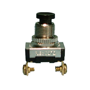 Philmore 30 457 Spst Off on Momentary On Black Push Button Switch 6a 120v Ac