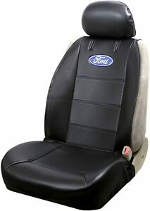 Official Licensed Ford Logo Sideless Black Seat Covers Set Car Suv Truck