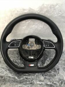 Audi A4 S4 B8 8k Flat Bottom Steering Wheel W S Tronic Gear Shifters 8k0419091ch