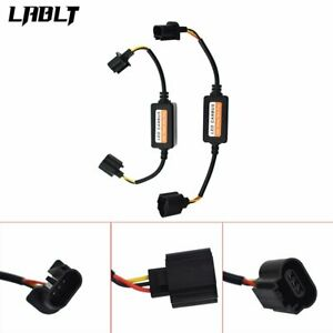 2x H13 9008 Led Headlight Kit Canbus Decoder Anti Flicker Resistor Relay Adapter
