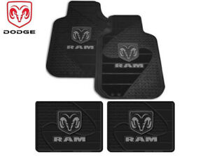4 Pc Dodge Ram Front Rear Rubber Floor Mats With Logo Fast Shipping