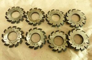 Set 8pcs Module M 0 9 Inner Bore 13mm 1 8 Hss Involute Gear Cutters Disk shaped