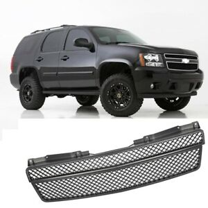 Grille Fit For Chevy Tahoe Avalanche 2007 2008 Front Upper Lower Matte Black