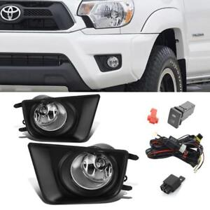 For 2012 2015 Toyota Tacoma Clear Oe Fog Lights Bumper Driving Lamp switch bulbs