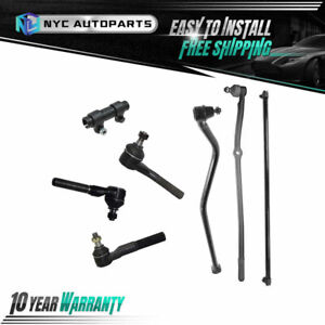 Front Track Bar Tie Rod Adjusting Sleeve 7pc Kit For 1991 2001 Jeep Cherokee