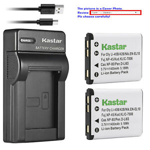 Kastar Battery Slim Usb Charger For Leica Bp dc17 Battery Leica Bc dc17 Charger